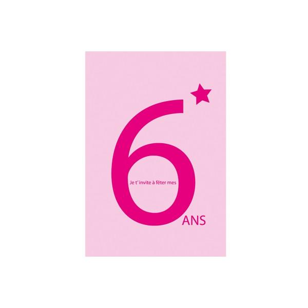 Assez CARTES INVITATION 6 ANS ROSE - à cause de toi ! ZF74