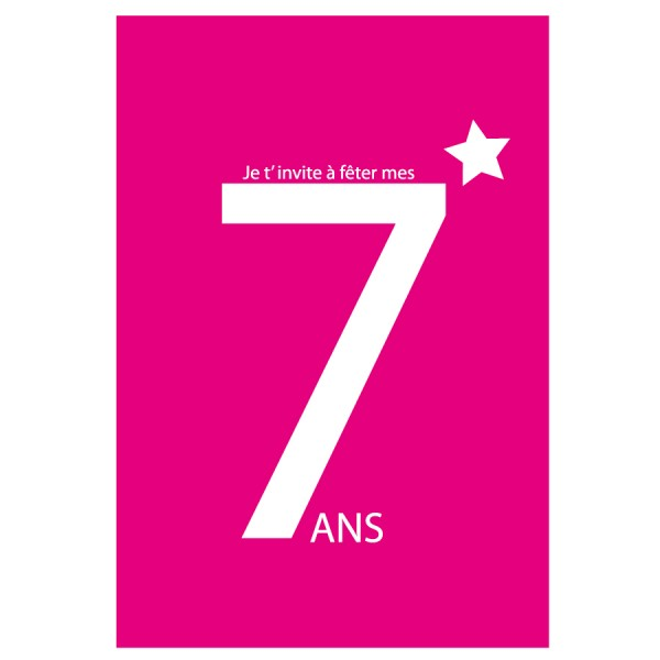 carte invitation 7 ans