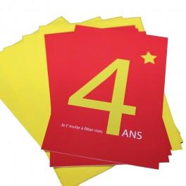 CARTES INVITATION 4 ANS